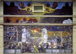 Detroit Industry, North Wall, 1932–33. Detroit Institute of Arts