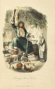 """Ghost of Christmas Present"", an illustration by John Leech made for Charles Dickens's festive classic A Christmas Carol (1843)."