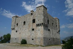 A rectangular fortress made of stone