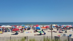 A view of the beach in Bethany Beach