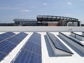 525 kW BIPV commercial roofing system in Gillette Stadium (Foxborough, Massachusetts)