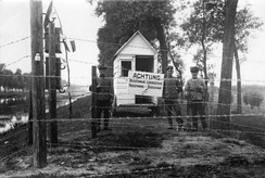 The German-constructed Wire of Death along the Belgian-Dutch border