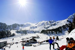 The ski resort in Speikboden, South Tyrol, Italy