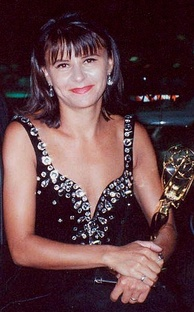 Tracey Ullman at the 1990 Emmy Awards