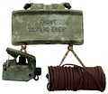 M18A1 Claymore mine with the M57 firing device and M4 electric blasting cap assembly