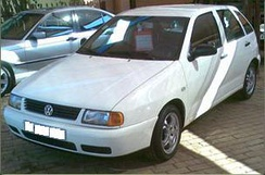 Volkswagen Polo Playa, a rebadged SEAT Ibiza Mk2 (South Africa)