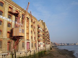 King Henry's Wharves, typical London wharves converted to apartments