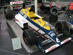 Williams FW12C, the first powered by a Renault engine