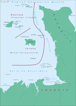 The Channel Islands located in the English Channel