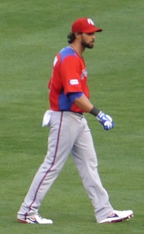 Pagán with the Puerto Rico national team in the 2013 World Baseball Classic