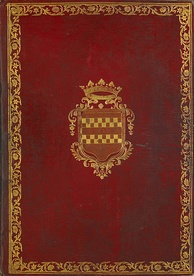 Cover of the bound manuscript