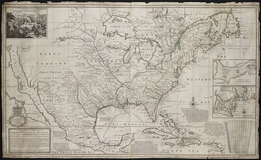 A new map of the north parts of America claimed by France under the names of Louisiana in 1720 by Herman Moll.