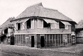 Bahay kubo all wrapped up in Nipa and bamboo 1920's