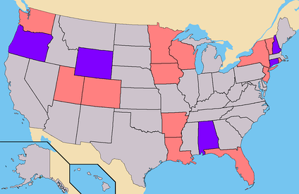 Light Red - States where Lindsay had ballot access. (146 Electoral)Purple - States where Lindsay had Write-In access. (30 Electoral)Total - 176 Electoral