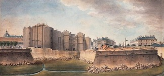 The demolition of the walls of the Bastille, July 1789