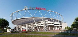 BayArena, the stadium of Bayer Leverkusen