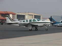 Beechcraft A36 Bonanza modified with the Tradewind Turbine's turboprop conversion