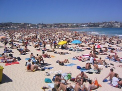 Bondi Beach, a popular beach area in Sydney, Australia.