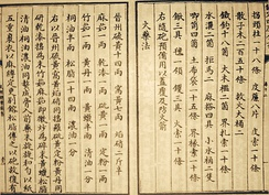Earliest known written formula for gunpowder, from the Wujing Zongyao of 1044 CE