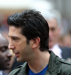 Schwimmer at the London premiere of Madagascar, 2005