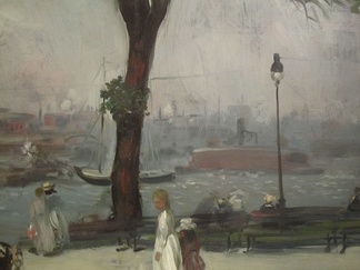 William Glackens' 1902 painting of East River Park, in the Brooklyn Museum