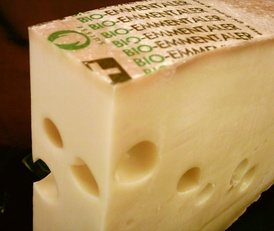 Emmentaler (also known as Swiss Cheese), while some Swiss types are AOC restricted, generic Emmentaler is produced around the world.