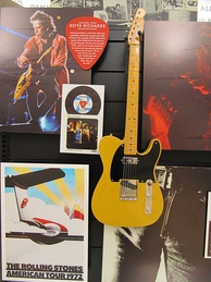 "A copy of ""Micawber"", Keith Richards' signature Telecaster model, in the Fender Guitar Factory Museum"
