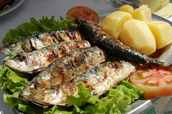 Grilled sardines in Portugal