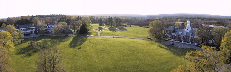 Groton School, as viewed from the top of the chapel.
