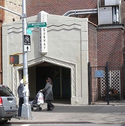 Entrance to the 181st Street IND station at 184th Street and Ft. Washington Avenue