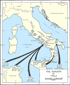 Map of the Invasion of Italy.