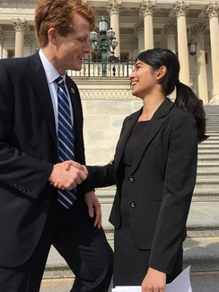 Kennedy meets with a constituent in Washington, D.C.