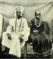 Telugu bride and groom belonging to the Kapu caste, c.a. 1909