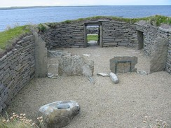 Knap of Howar farmstead on a site occupied from 3,700 BC to 2,800 BC