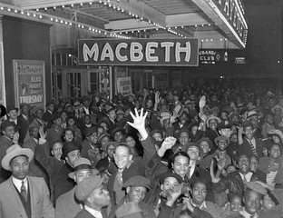 Macbeth opening night at the Lafayette Theatre (April 14, 1936)