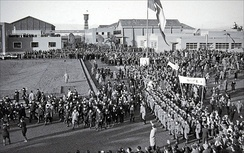 Inauguration of the studios in 1937