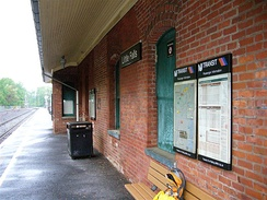 Little Falls station viewed from the 1915 station building