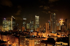 Makati CBD is the principal central business district of the Philippines.