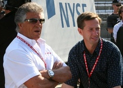 Andretti with uncle Mario at the 2007 Indy 500