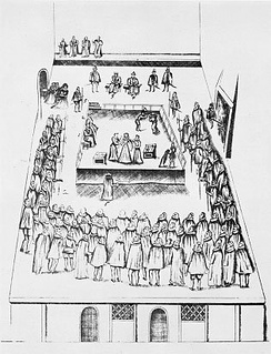 The execution scene, drawn by eyewitness Robert Beale