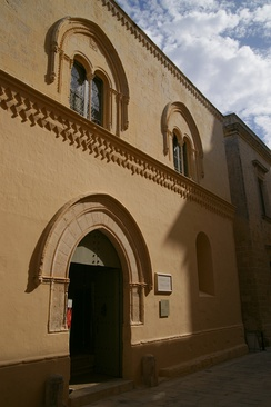 Palazzo Falzon, which was built between the late 15th and mid 16th centuries. It is the second oldest surviving building in Mdina.