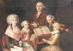 Wolfgang Amadeus Mozart and Thomas Linley in the family of Gavard des Pivets in Florence 1770