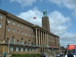 Norwich City Hall, the meeting place of the city council