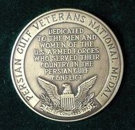 Persian Gulf Veterans National Medal of the US military