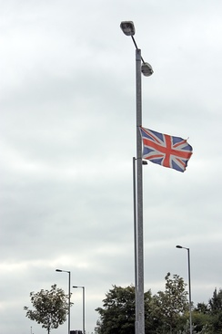 The Union Flag on display in Portadown in Northern Ireland. Northern Ireland has been part of the United Kingdom in its current form since 1921.