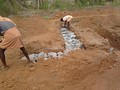 A basic type of rubble trench foundation