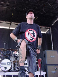 Randy Blythe during Ozzfest 2004