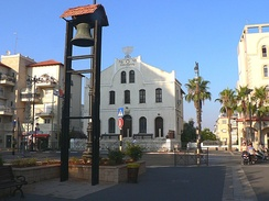 Great Synagogue, founders square, and village bell