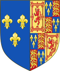 Mary's arms as Queen of Scotland and France, with the arms of England added, used in France before the Treaty of Edinburgh, 1560