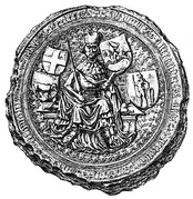 Seal of Vytautas the Great with the Lithuanian coat of arms, featuring horseman, in his left hand, circa 14th–15th centuries